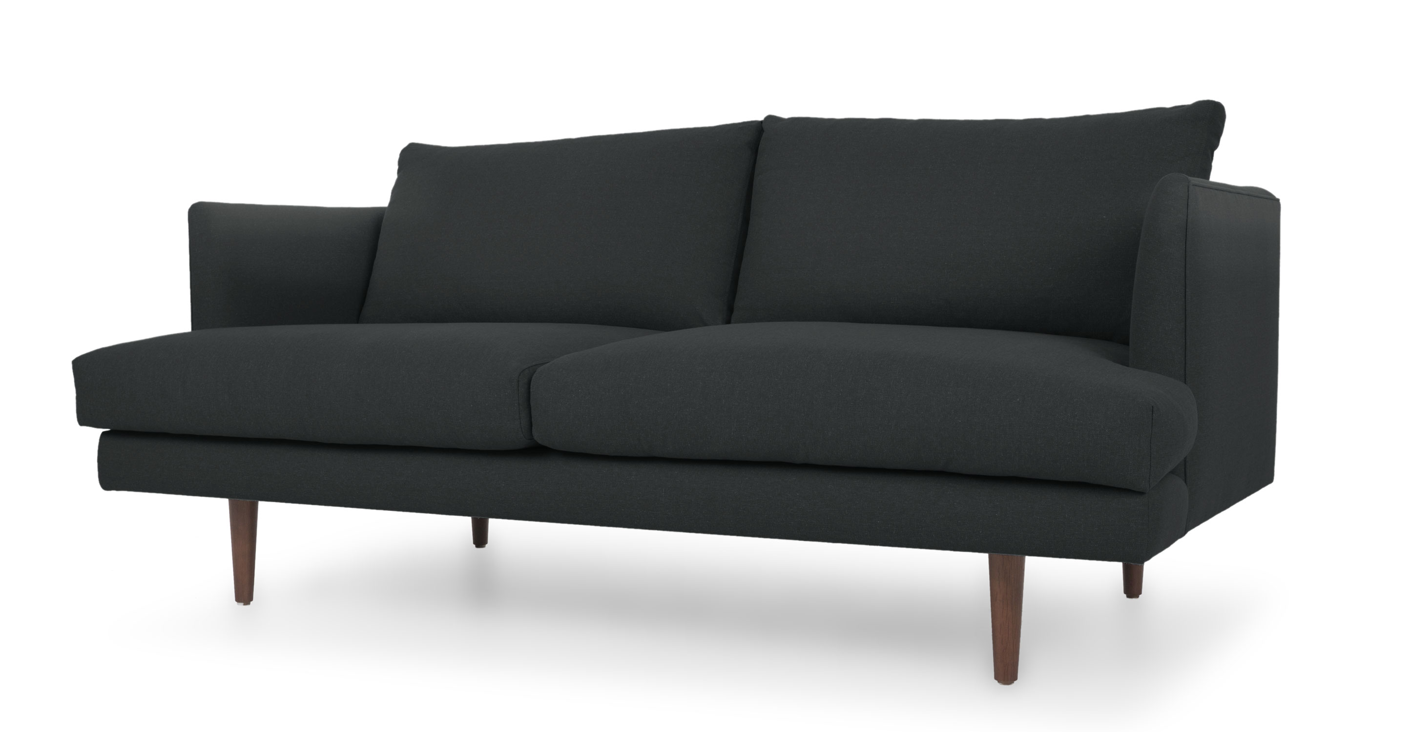 mid century style sofa canada upscale sectional sofas carl basalt gray loveseat loveseats article modern