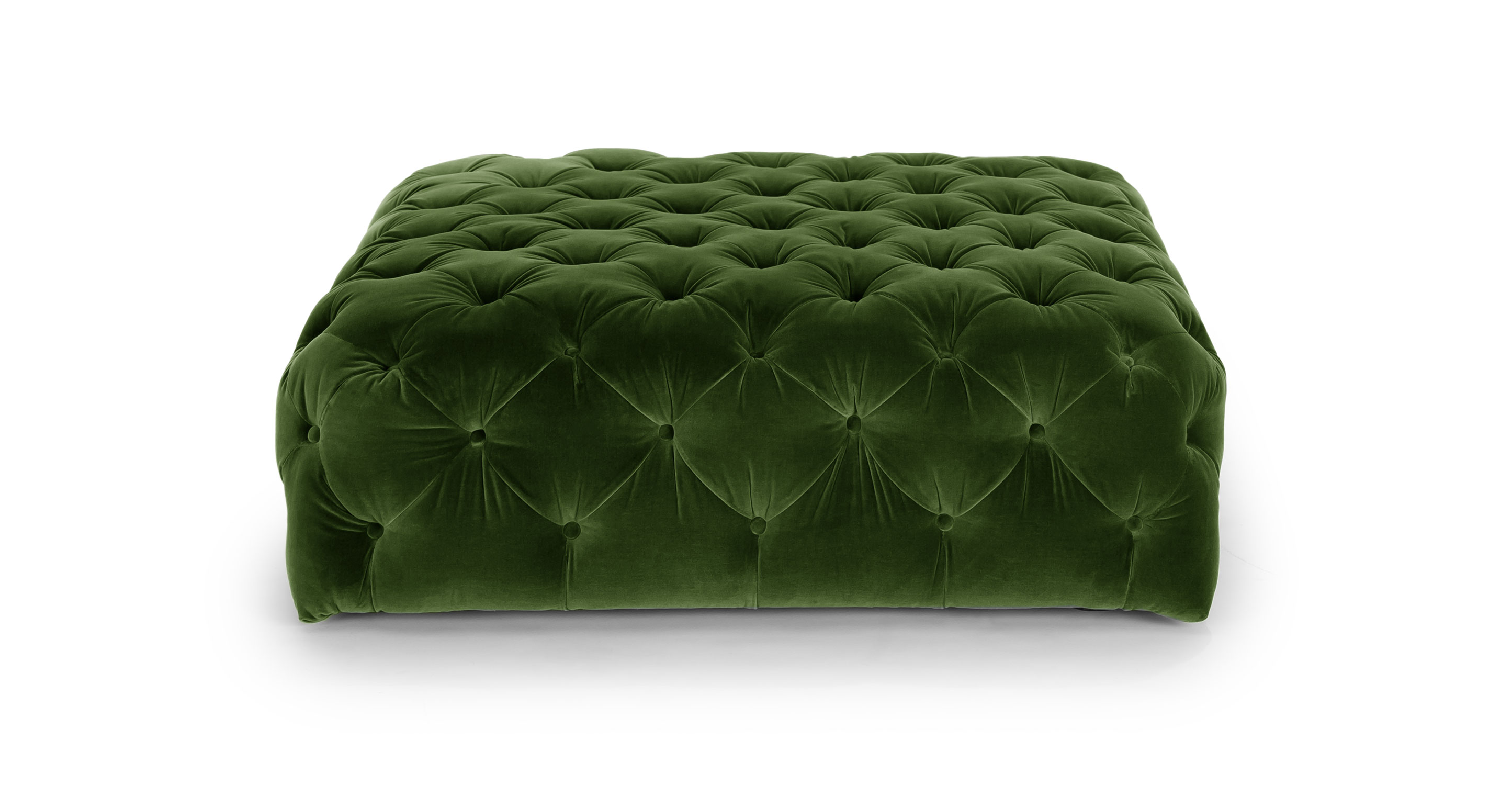 mid century style sofa canada sheets for beds uk diamond grass green ottoman - ottomans article | modern ...
