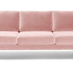 Mid Century Style Sofa Canada Covers Set Of 5 Matrix Blush Pink Sofas Article Modern