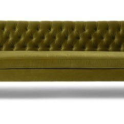 Olive Green Velvet Accent Chair Drive Medical Bathroom Safety Shower Tub Bench Gray Chester Sofa Sofas Article Modern Mid