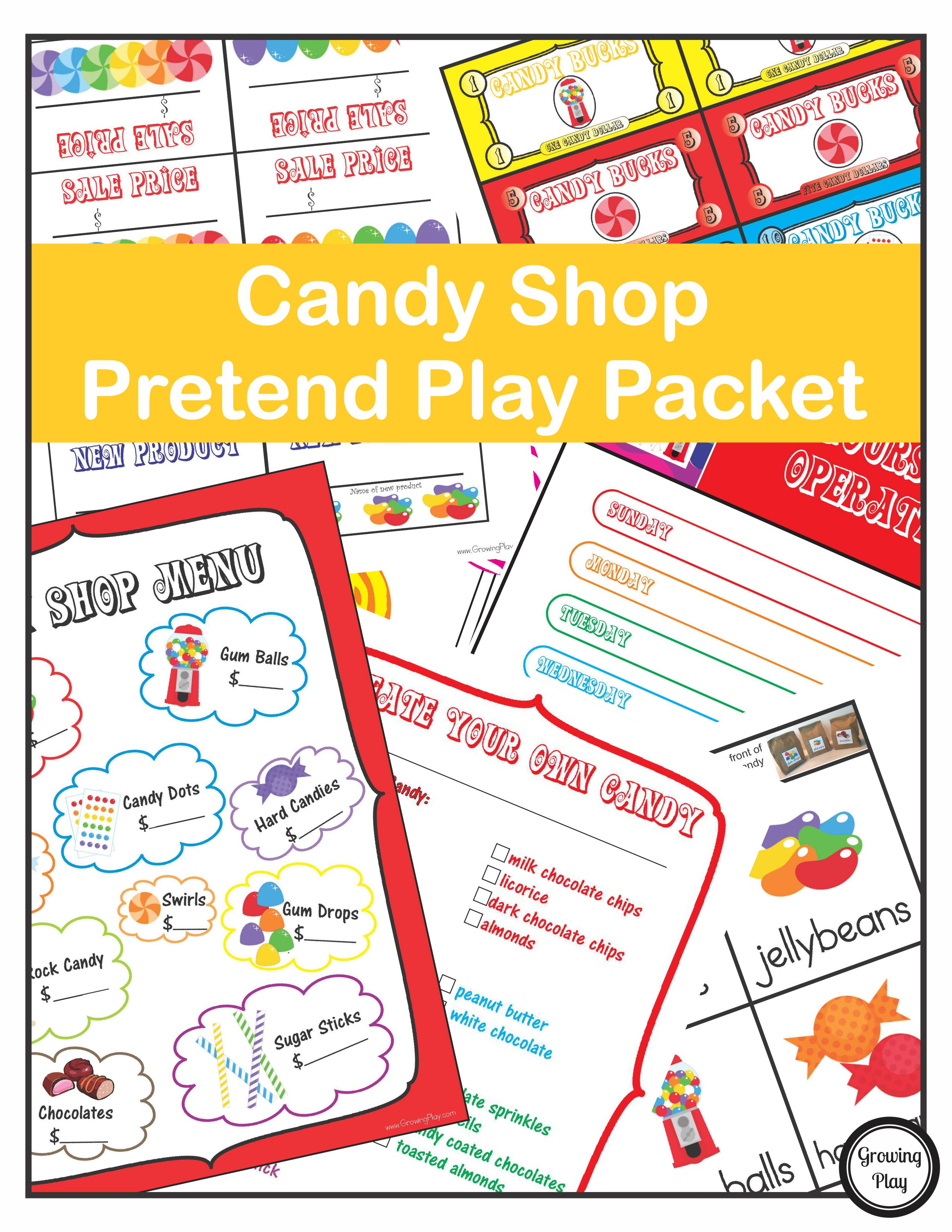 Candy Shop Pretend Play