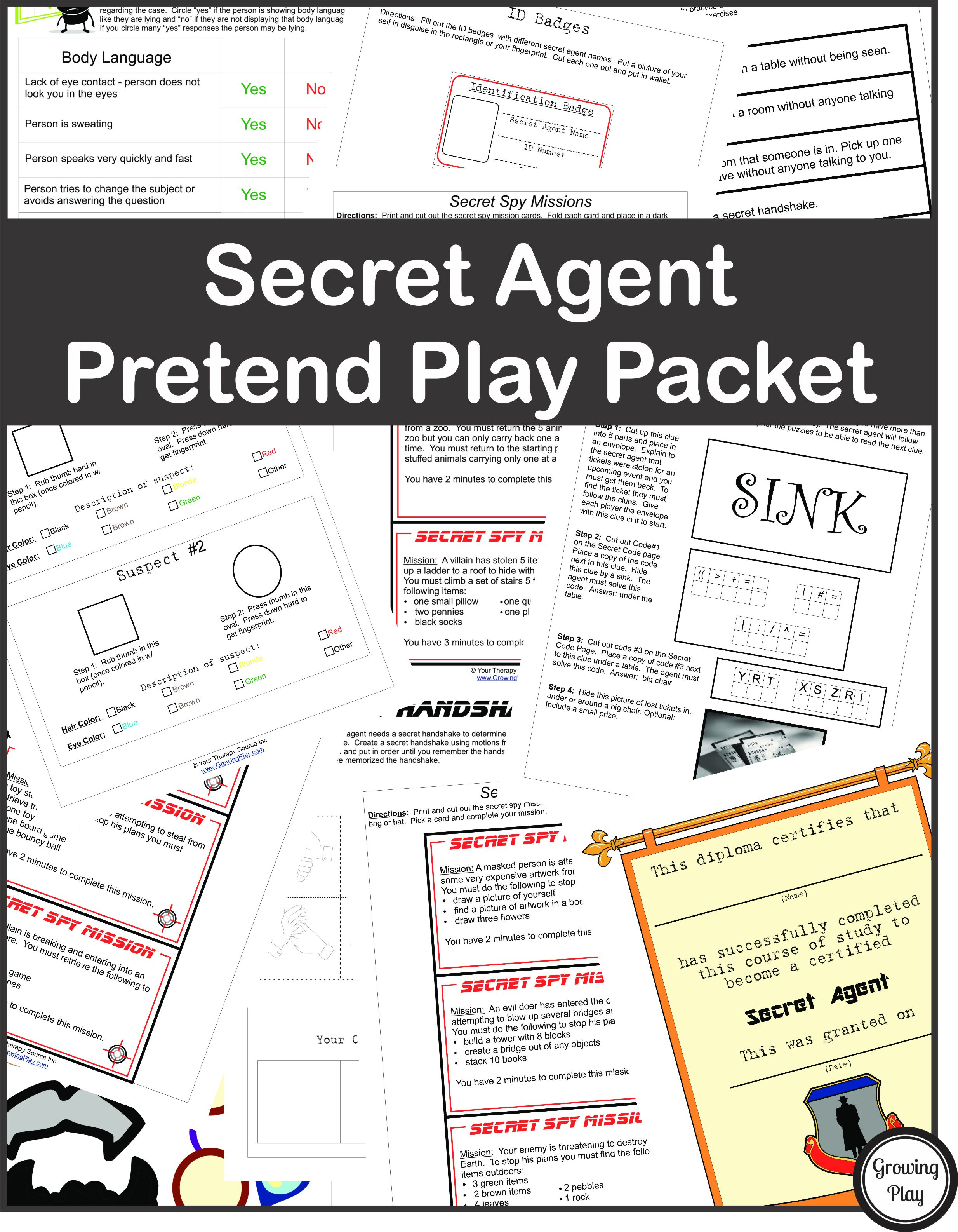 Secret Agent Pretend Play