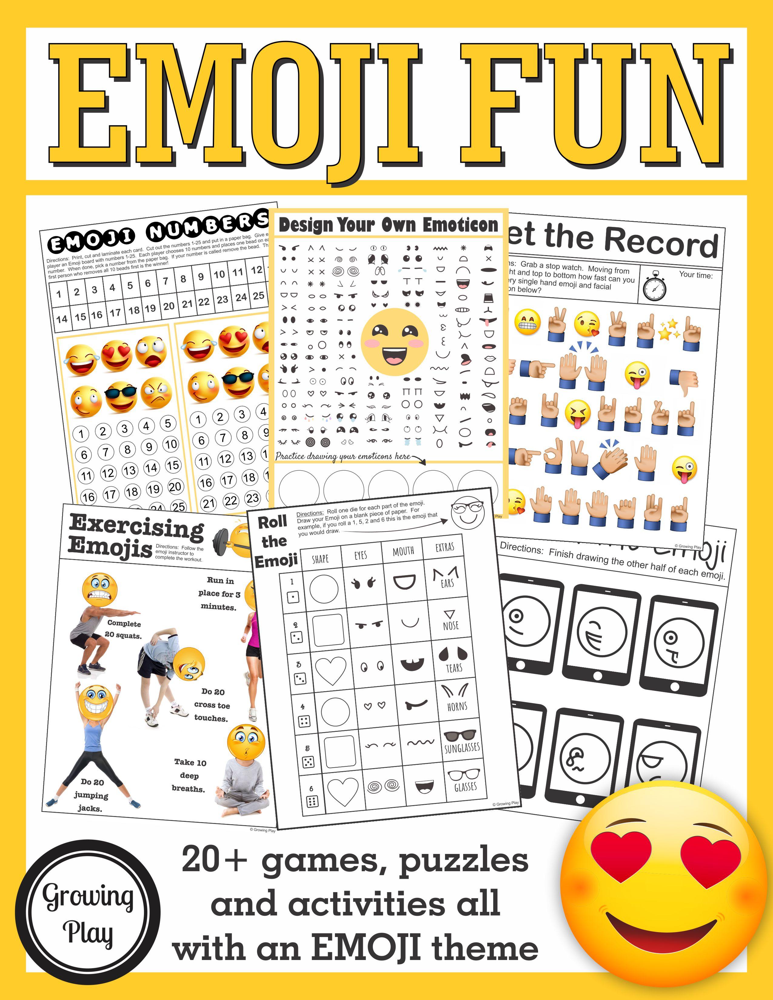Exercising Emojis Brain Break Or Just For Fun