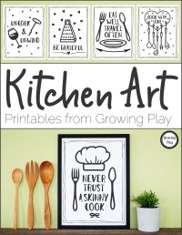 Kitchen Art - Printables from Growing Play - Growing Play