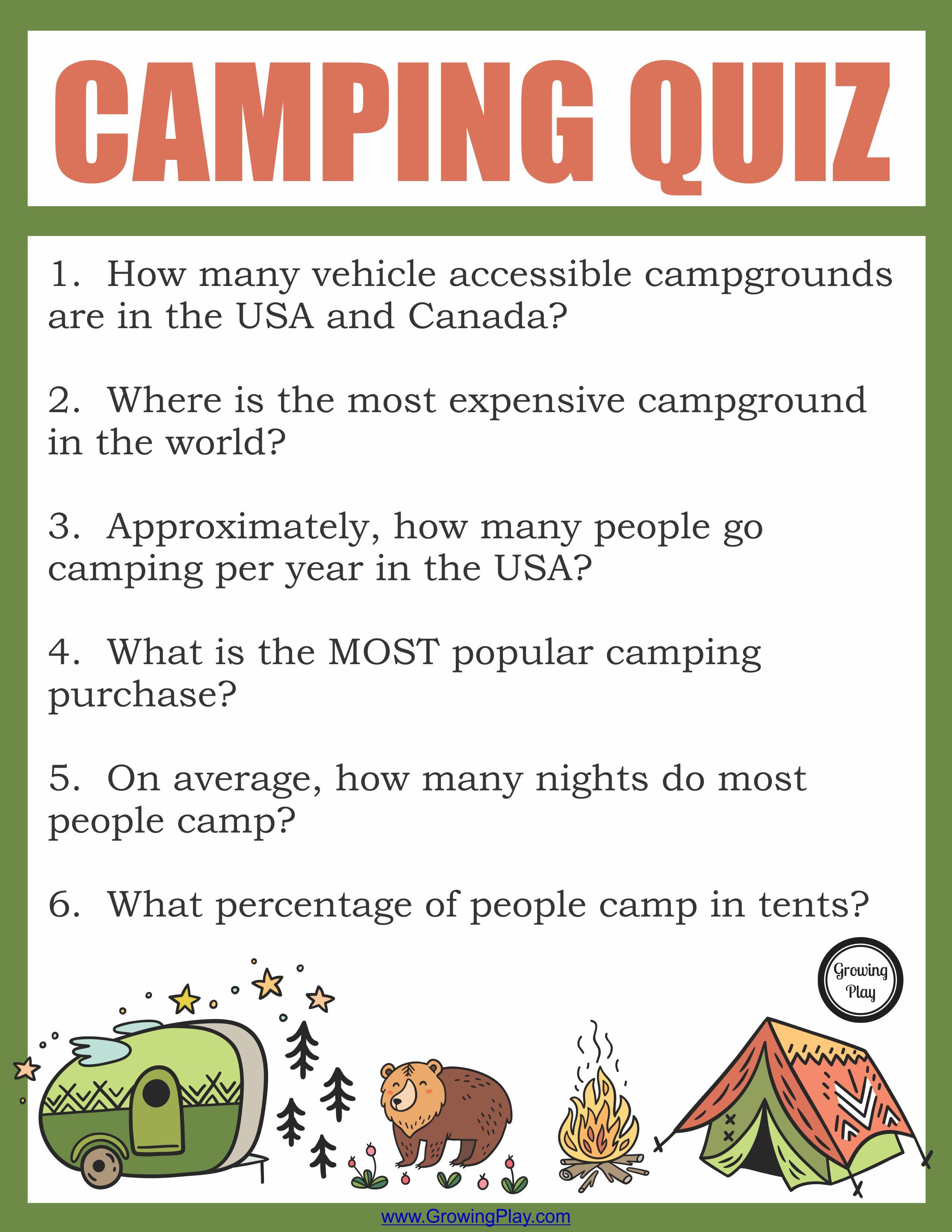 Camping Fun Facts