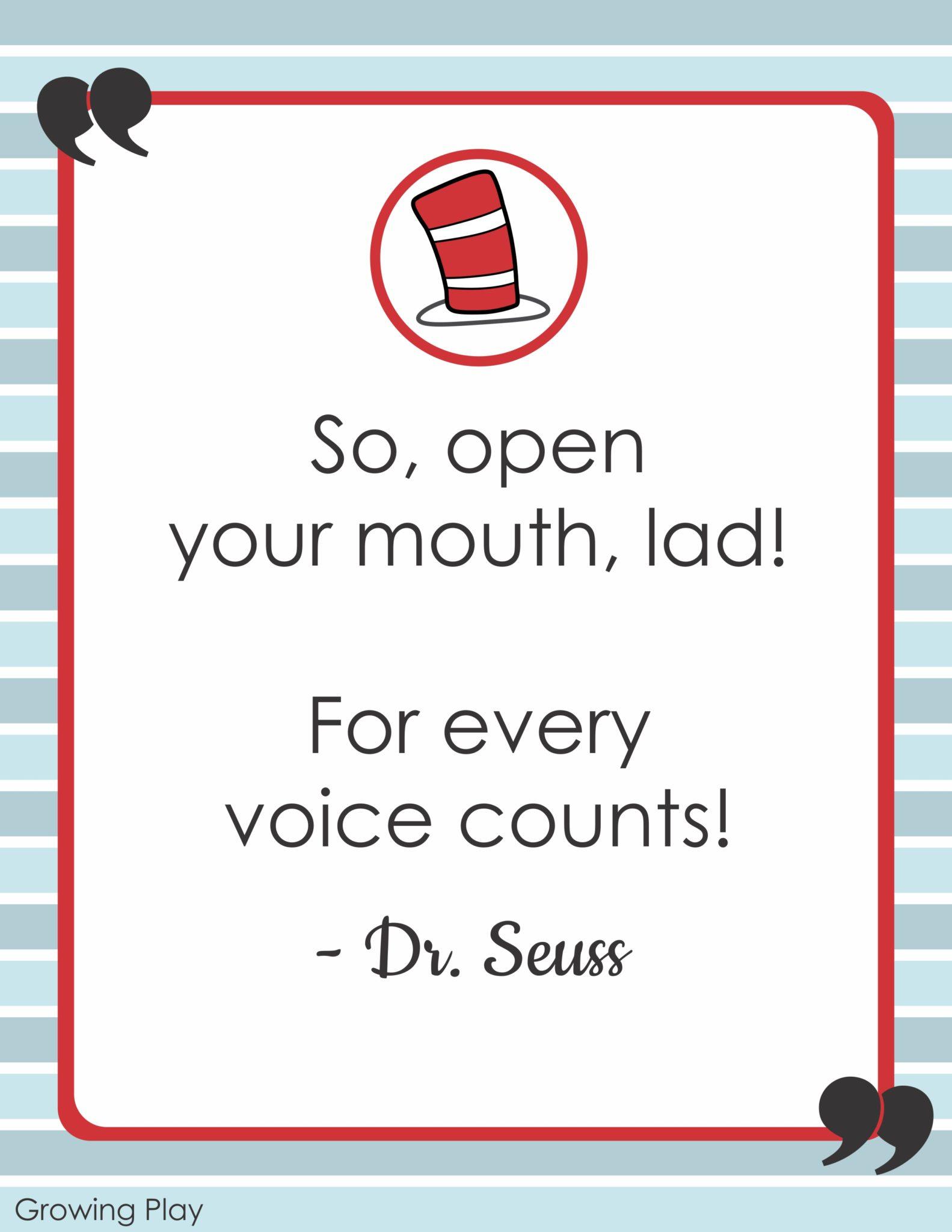 Dr Seuss Quotes Open Mouth