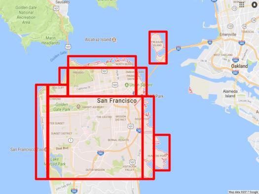 Using QuadTree to index San Francisco