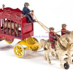 Overland Circus Horse Drawn Cast Iron Wagon Toy Jeffrey S Evans Associates