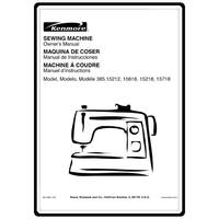 Service Manual, Kenmore 385.15212400 : Sewing Parts Online