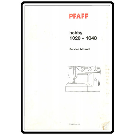 Service Manual, Pfaff 1020 : Sewing Parts Online