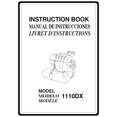 Instruction Manual, Janome 1110DX : Sewing Parts Online