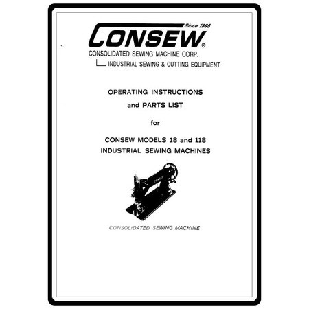 Instruction Manual, Consew 118 : Sewing Parts Online