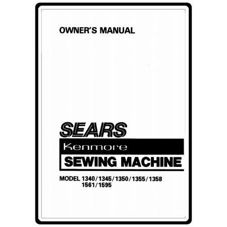 Instruction Manual, Kenmore 158.1355 Models : Sewing Parts