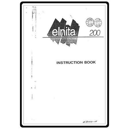 Instruction Manual, Elna Elnita 200 : Sewing Parts Online