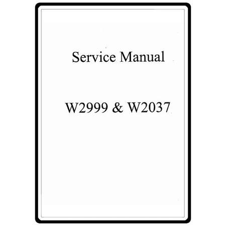 Service Manual, White 2037 : Sewing Parts Online
