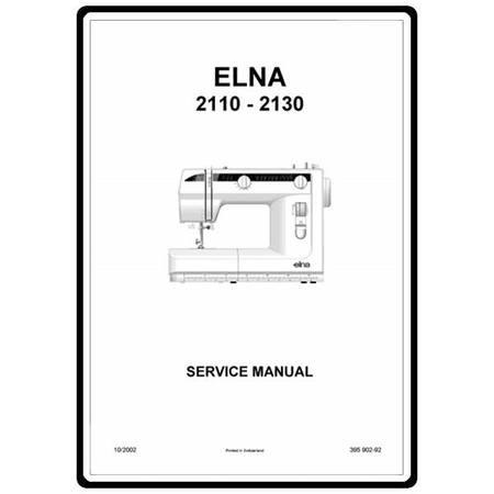 Service Manual, Elna 2110 : Sewing Parts Online
