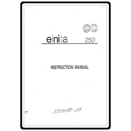 Instruction Manual, Elna 250 : Sewing Parts Online