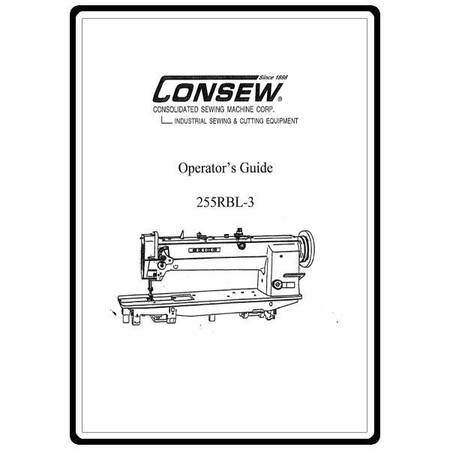 Instruction Manual, Consew 255RBL-3 : Sewing Parts Online