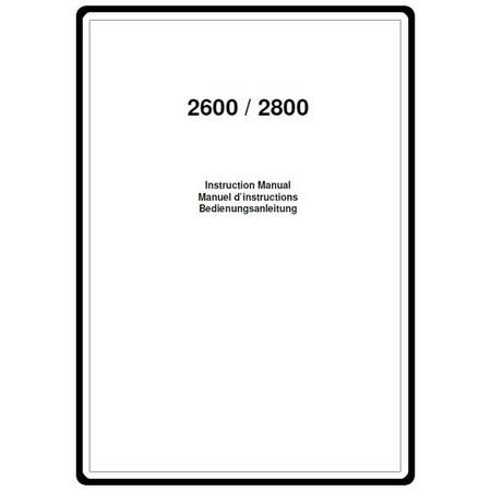 Instruction Manual, Elna 2800 : Sewing Parts Online