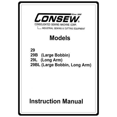 Instruction Manual, Consew 29BL : Sewing Parts Online
