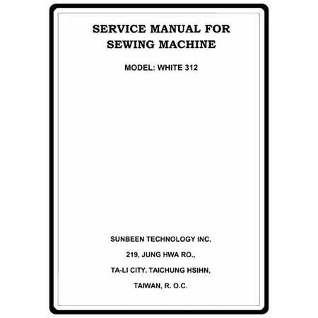 Service Manual, White 312 : Sewing Parts Online