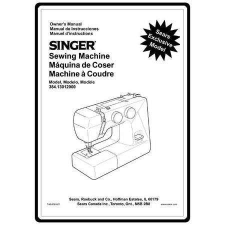 Instruction Manual, Kenmore 384.13012000 : Sewing Parts Online