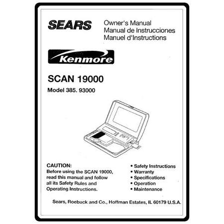Instruction Manual, Kenmore 385.93000 Models : Sewing