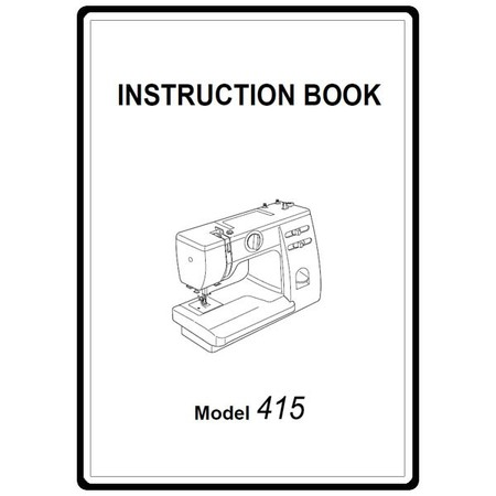 Instruction Manual, Janome 415 : Sewing Parts Online