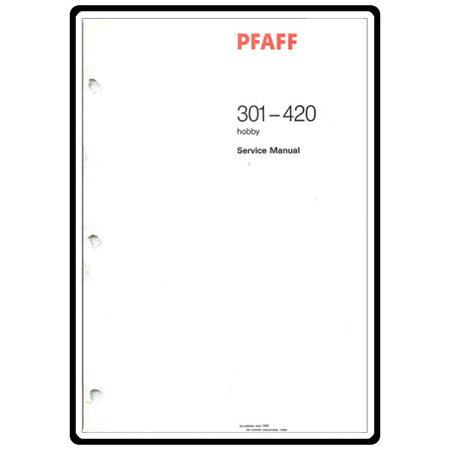 Service Manual, Pfaff 301 : Sewing Parts Online