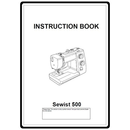 Instruction Manual, Janome 500 : Sewing Parts Online