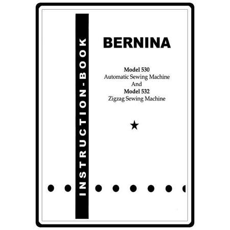 Instruction Manual, Bernina 530 : Sewing Parts Online