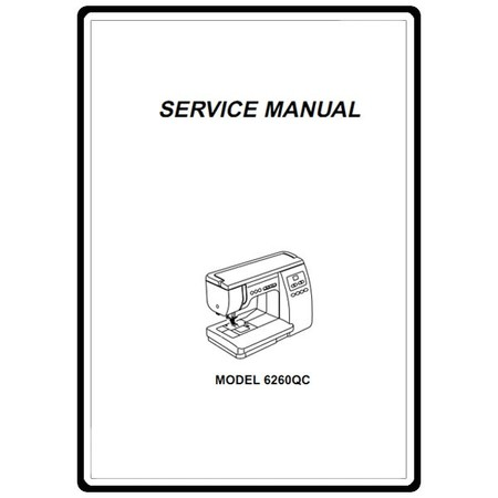 Service Manual, Janome 6260QC : Sewing Parts Online
