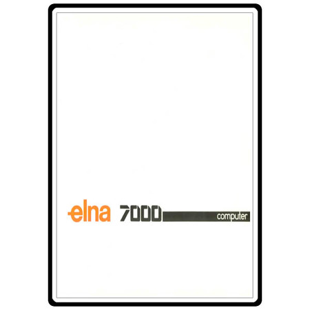 Instruction Manual, Elna 7000 Computer : Sewing Parts Online
