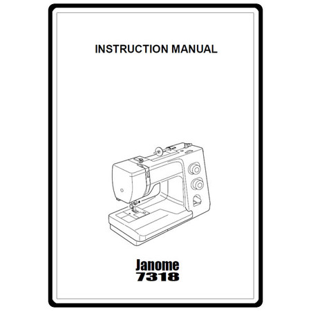 Instruction Manual, Janome 7318 : Sewing Parts Online