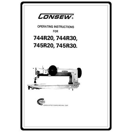 Instruction Manual, Consew 745R30 : Sewing Parts Online