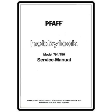 Service Manual, Pfaff 794 : Sewing Parts Online