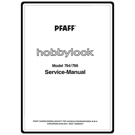 Service Manual, Pfaff 796 : Sewing Parts Online