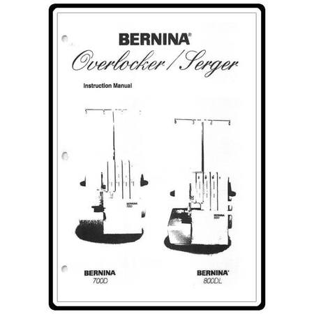 Instruction Manual, Bernina 800DL : Sewing Parts Online
