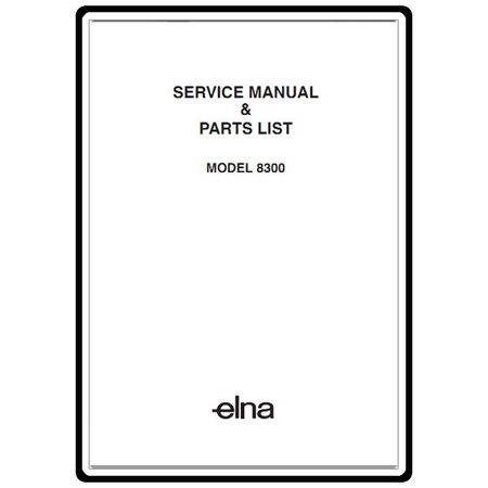 Service Manual, Elna 8300 : Sewing Parts Online