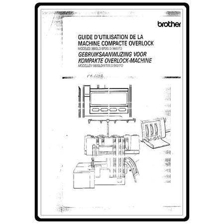 Instruction Manual, Brother Compact Overlock 9700LD