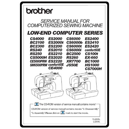 Service Manual, Brother CE4000 : Sewing Parts Online