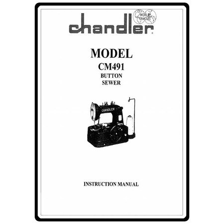 Instruction Manual, Consew Chandler CM491 : Sewing Parts