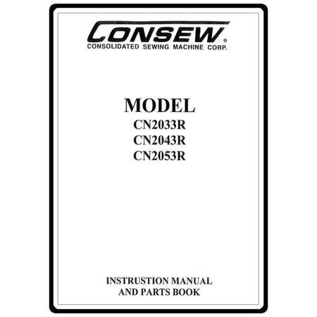 Instruction Manual, Consew CN2053R : Sewing Parts Online