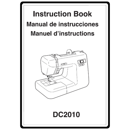 Instruction Manual, Janome DC2010 : Sewing Parts Online