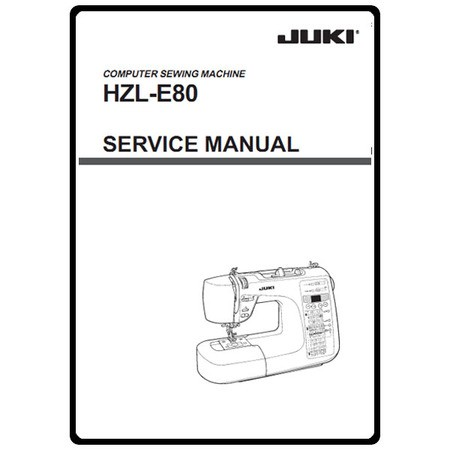 Service Manual, Juki HZL-E80 : Sewing Parts Online