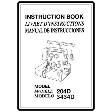 Instruction Manual, Janome 3434D : Sewing Parts Online