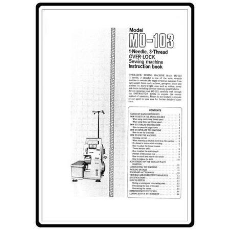Instruction Manual, Juki MO-103 : Sewing Parts Online
