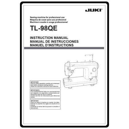 Instruction Manual, Juki TL-98QE : Sewing Parts Online