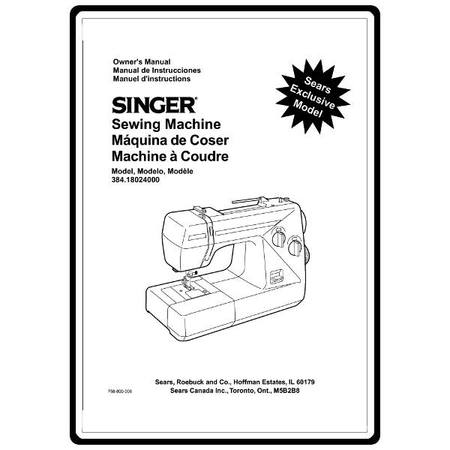 Instruction Manual, Kenmore 384.18024000 : Sewing Parts Online