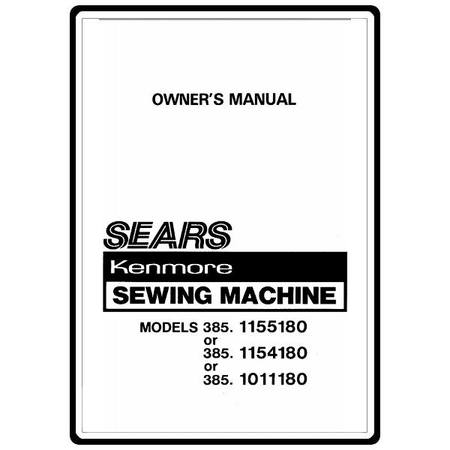 Instruction Manual, Kenmore 385.1154180 : Sewing Parts Online